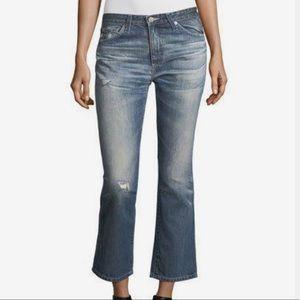 NWT Adriano Goldschmied Jodi Crop faded jeans